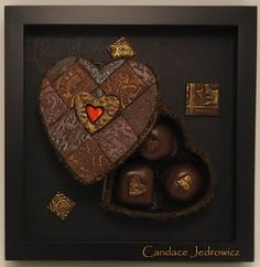 polymer clay tiled heart box