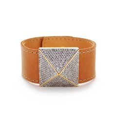 jewelry  Leather pave pyramid hot