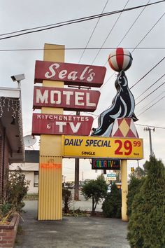 Seal's Motel - Seattle, WA. always loved this sign