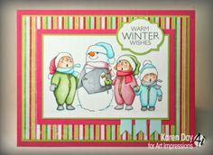 Karen Day - Art Impressions Caroling Tots (Sku#T3607)