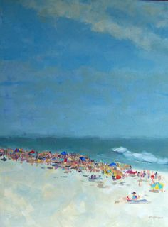 Original Painting Flock to the Shore 16 x 20 by houseofthesun, $245.00