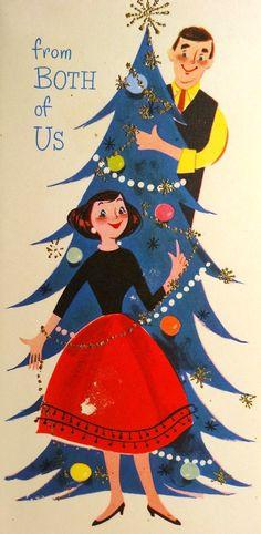 Vintage Christmas Card. <3