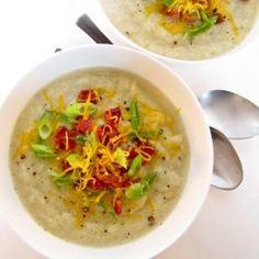 Creamy Cauliflower Leek Potato Soup  #HealthyAperture