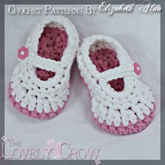 Baby Booties Crochet Pattern for Bulky Baby Button by ebethalan