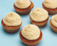 Brown Sugar Cupcakes with Browned Butter Frosting I'm going to make these in my Babycakes pie maker.