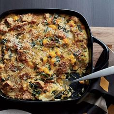 Butternut Squash and Kale Strata with Multigrain Bread / 31 Delicious Things To Cook In December