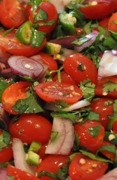 Fresh and Spicy Grape Tomato Salad