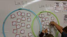 hoop lesson, secret teacher, venn diagrams, hoop venn, hula hoop