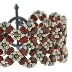Cherry Blossom Lattice Bracelet | Fusion Beads Inspiration Gallery -seed, rulla & peanut beads
