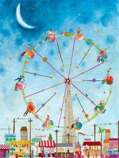 maria carluccio, canvas art, canvas wall art, daisi, ferri wheel