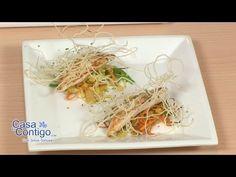 Tapa de Pollo con Verduras, Maiz y Fideos de Arroz, Tapa