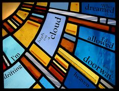 Stained glass door panel Glasgow. - by Stephen Weir