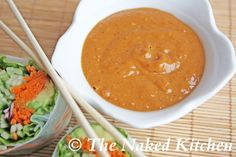 Savory Peanut Dipping Sauce- I could eat this by the bowl full.  It was SOOOOOO GOOOD!!!  Try it on top of lettuce wraps.
