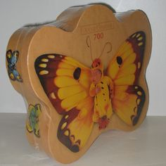 "We're sure looking forward to warmer weather! This Anne Geddes shaped jigsaw puzzle is called ""Kendall as Butterfly"" and holds out the promise of summertime.  #jigsawpuzzles #annegeddes #butterflies"