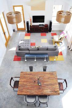modern and playful //Matt's Modern Minimalist Austin Retreat // apartment therapy
