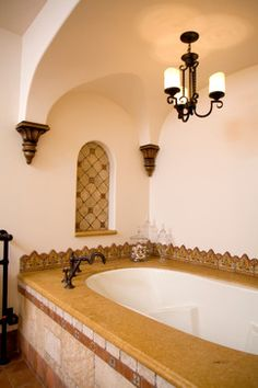 Master Bath Remodel On Pinterest Mediterranean Bathroom