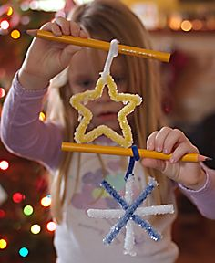 Winter Crystal Shapes Preschool Craft