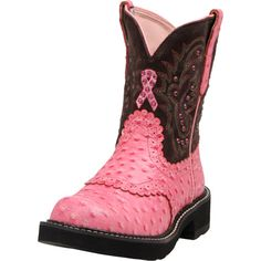 Ariat Breast Cancer Ribbon Boots