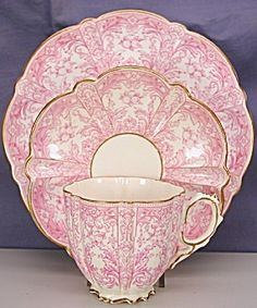 Aynsley pink and white tea cup