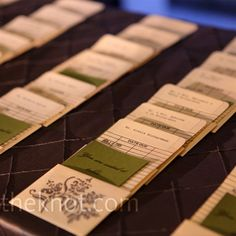 Library Escort Cards