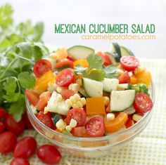 Cucumber Salad- so fresh and so beautiful you just want to dig in!