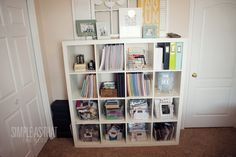 Rebecca Cooper's Expedit for craft organization