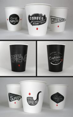 Coffee cup labels