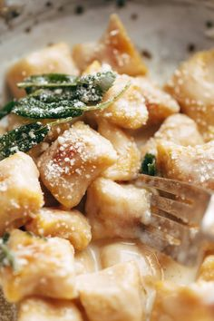 Pumpkin Gnocchi with Sage Butter Sauce Recipe - Pinch of Yum
