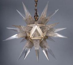 French Art Deco hanging light fixture, Moravian st