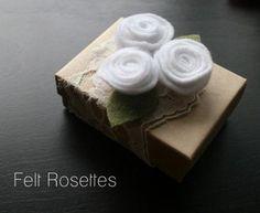DIY:Felt Rosetts