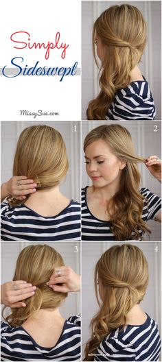 Sideswept Hairstyle 7 Easy Side swept Waves