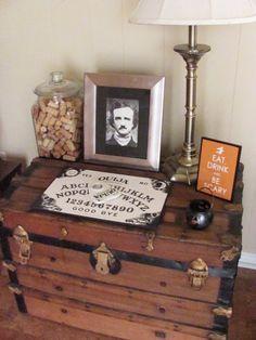 Poe Portrait and Ouija Board