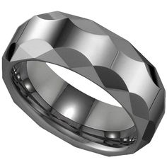 Tungsten Men`s Wedding Band #jewelry www.BlueRainbowDesign.com