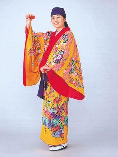Ryukyu style. It's traditional Okinawan dress