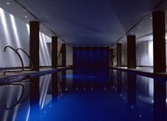 Swimming Pool lighting by Lighting Design International.
