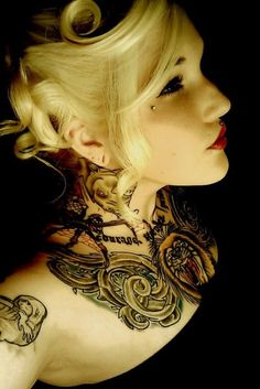 tattoo love ink beauty - the lighting is as beautiful as the tattoo...but the girl is even more