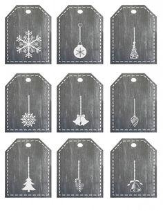 free chalboard printable gift tags