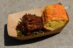 Smoked Beef Brisket with Collard Greens and Jalapeño Corn Bread (Gluten Free) from The Smokehouse: Barbecue and Brews  The 2014 Epcot International Flower & Garden Festival http://www.wdwinfo.com/wdwinfo/guides/epcot/events/ep-flower-garden.htm
