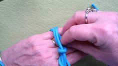 Fast and easy way to tie a 5L 14B Gaucho knot ie enlargened Spanish Ring knot
