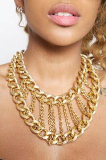 multi rows chain necklace, chunky chain, diy