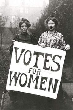 Vote. Our sisters suffered to give us that right.
