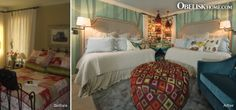 Before & After | Obelisk Home  I like the after as far as guest room with 2 beds, however I like everything but the bedding.