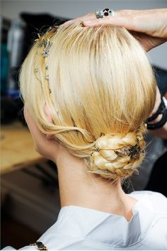 Backstage Hair - Valentino Couture Collection A/W 2011/12