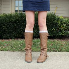 easy, lace boot socks