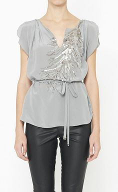 grey top by rebecca taylor