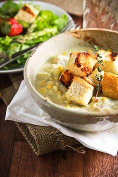 creamy vegan corn chowder. yes, i will be making this.