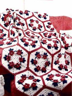 Petals & Pearls Afghan Crochet Pattern-