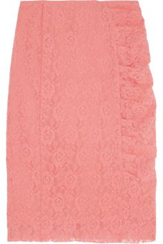 NINA RICCI Stretch-lace pencil skirt