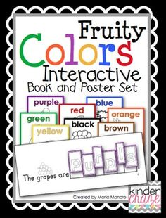 Interactive practice for color words! Emergent reader and poster set, $4