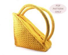 Crochet Bag Pattern Round Handles Crochet Pattern Purse